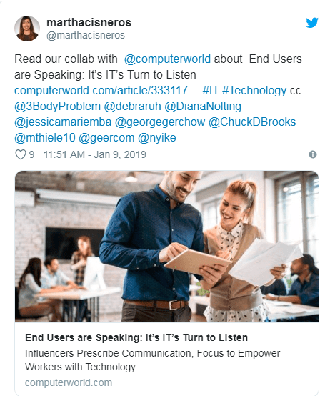 End Users Are Speaking: it's IT Turn to Listen